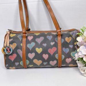 Dooney & Bourke Heart Barrel Bag